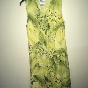 Tess green button up dress
